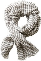 Lomo See Design Stripe Cotton Scarf - Putty