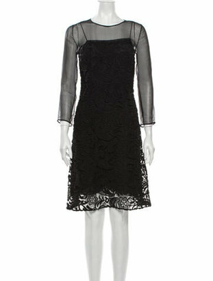 Prada 2012 Knee-Length Dress Black