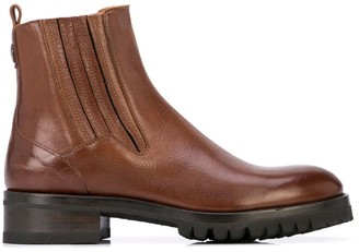 Alberto Fasciani Yara burnished ankle boots