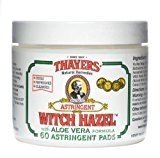 Thayer Original Witch Hazel Astringent Pads With Aloe Vera Formula - 60 Ct