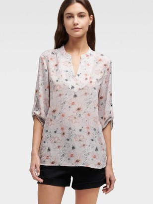 DKNY Women's Floral Tunic - Light Pink - Size M