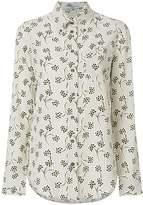 Prada floral print striped shirt