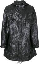 Rochas textured hooded coat