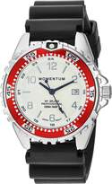 Momentum Women's Quartz Stainless Steel and Rubber Diving Watch, Color:Black (Model: 1M-DN11LD1B)