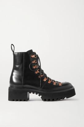 Grenson Nanette Leather Platform Ankle Boots - Black