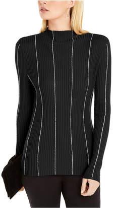 INC International Concepts I.n.c. Embellished-Stripe Sweater