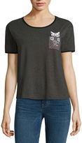 Fifth Sun Feline Fine Cat in Pocket Graphic T-Shir