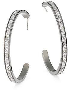 Shana Gulati Women's Hapur Sterling Silver & Sliced Raw Diamond Hoop Earrings