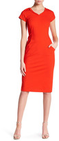 Lafayette 148 New York Cap Sleeve Dress