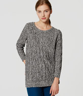 LOFT Marled Cable Tunic Sweater