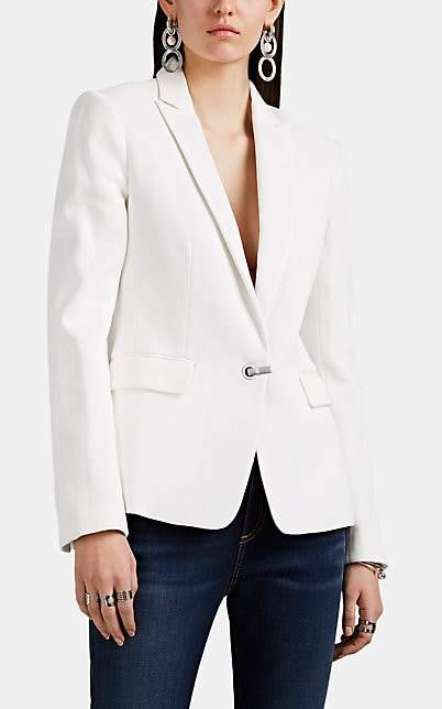 Rag & Bone Women's Lexington Cotton Piqué Blazer - White