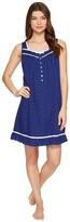 Eileen West Cotton Woven Dot Short Nightgown Women's Pajama