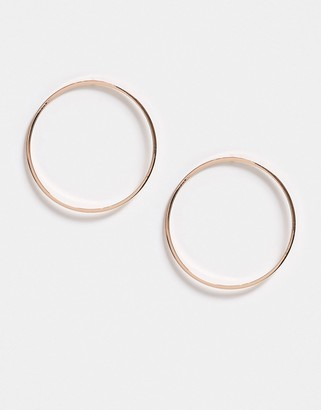 Pilgrim rose gold plated circle earrings in silver