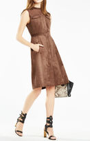 BCBGMAXAZRIA Allexandria Faux-Suede Dress