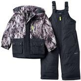 Osh Kosh Baby Boy Hooded Mountain Jacket & Bib Snow Pants Set
