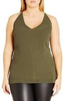 City Chic Plus Size Women's Drape Back V-Neck Tank