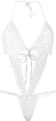Folies By Renaud Cut-Out Lace Bodysuit