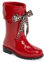Igor Toddler Girl's Campera Charol Leo Rain Boot
