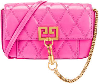 Givenchy Mini Pocket Quilted Leather Bag in Sorbet Pink | FWRD
