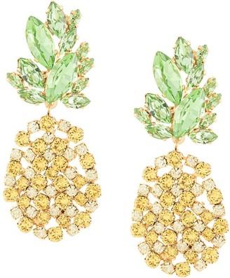 Shourouk Pineapple Drop Earrings