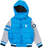 U.S. Polo Assn. Blue Tile Varsity Puffer Coat - Boys