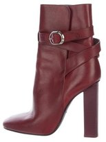 Emilio Pucci Leather Wrap-Around Ankle Boots