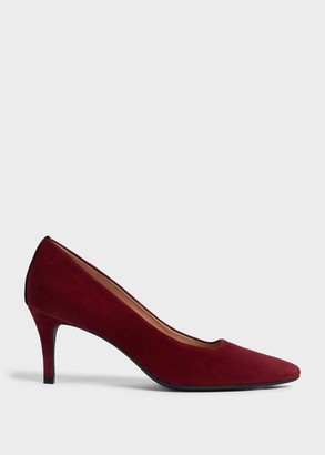 Hobbs Amy Suede Stiletto Court Shoes