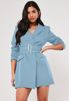 Missguided Double Belted Blazer Dress