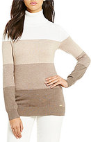 Calvin Klein Ombre Colorblock Fine Gauge Turtleneck Sweater
