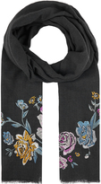 Accessorize Betty Floral Embroidered Scarf