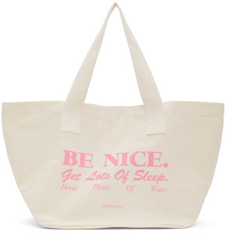 Sporty and Rich Off-White Be Nice Tote