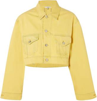 Ganni Cropped Denim Jacket