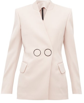 Petar Petrov Jestine Collarless Double Breasted Wool Jacket - Womens - Light Pink