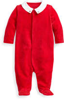 Ralph Lauren Childrenswear Boy's Velour Footed Coverall w/ Broadcloth Collar, Size 3-9 Months