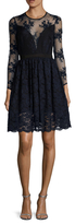 ABS by Allen Schwartz Lace Cut Out Fit And Flare Dress