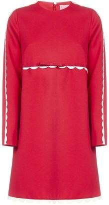 RED Valentino Scallop Trim Dress