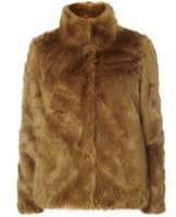 Dorothy Perkins Womens **Vero Moda fur jacket- Khaki