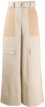 MSGM Wide-Leg Cargo Trousers