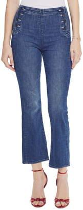 Mother The Sailor Tripper High Waist Crop Bootcut Jeans