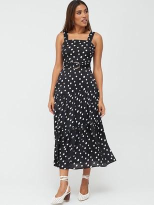 Very Belted Asymmetric Seam Midaxi Dress - Print