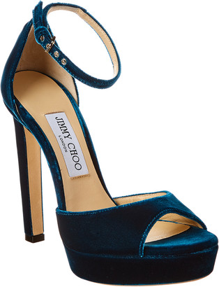 Jimmy Choo Pattie 130 Velvet Sandal