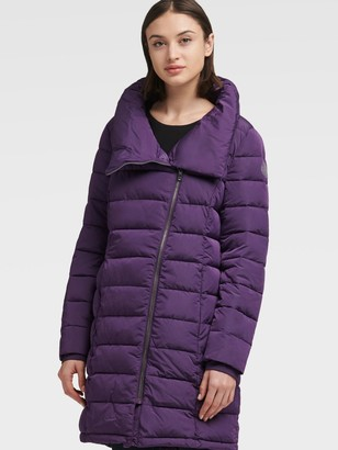 DKNY Packable Puffer With Asymmetrical Zip
