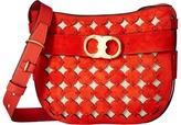 Tory Burch Gemini Link Suede Cut Out Crossbody Bag Cross Body Handbags