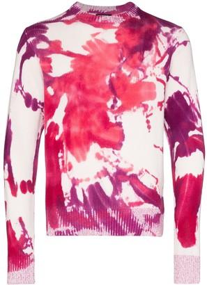 Canessa Josephine splatter-print cashmere jumper