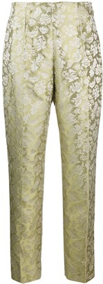 Romeo Gigli Pre-Owned 1990s Floral Jacquard Tailored Trousers