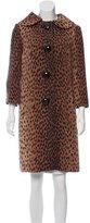 Michael Kors Wool Cheetah Print Coat
