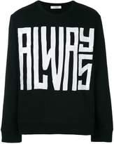 Valentino always print sweatshirt
