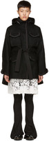 Sacai Black Wool Coat