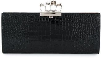 Alexander McQueen Four Ring Large Clutch
