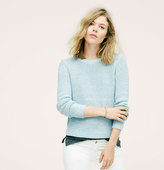 LOFT Lou & Grey Indigo Speckle Sweater